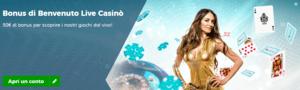 Bonus live casino benvenuto Star Casino