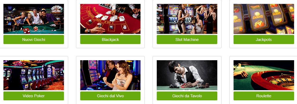 Offerta giochi ampia scelta Titanbet casino