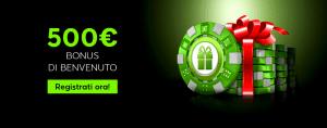888 casino 500 euro Bonus benvenuto ricco soldi