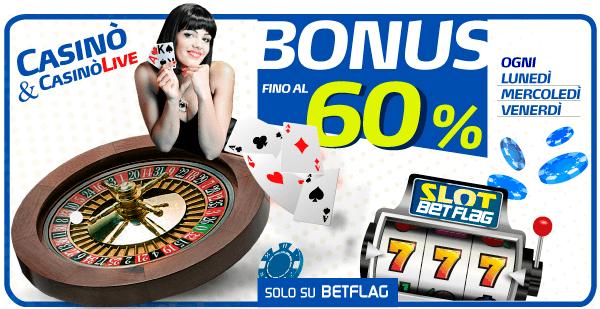 Betflag-casino-Bonus-Rimborso-60%-1milione