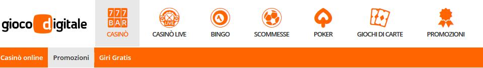 Gioco Digitale-casino-GD-Bonus-interfaccia