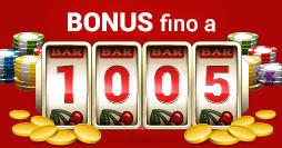 Sisal-Casino-Bonus-Benvenuto-1005€-gratis-progressivo