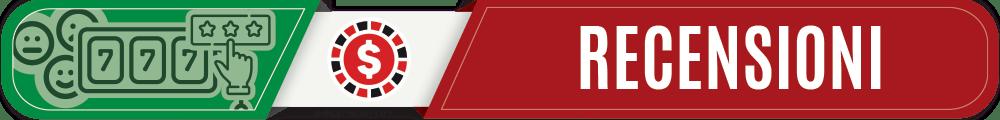 RECENSIONI banner