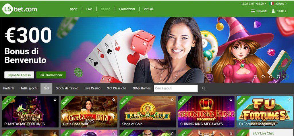 Lsbet screenshot prima pagina web