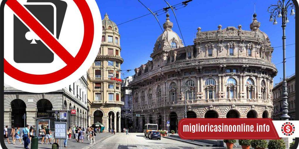 Genova dice no al Gioco d'Azzardo nel Centro Storico