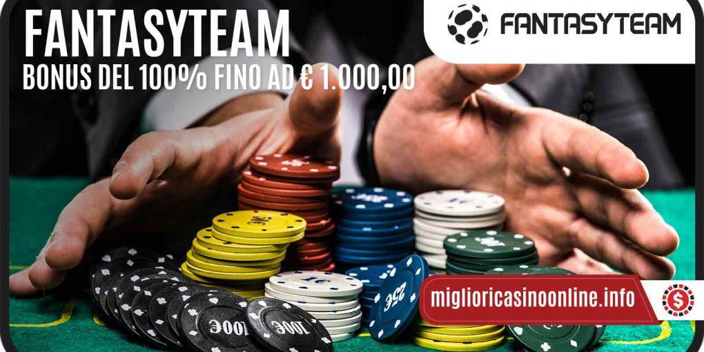 Fantasy Team Casino: un Bonus di Benvenuto che dura davvero