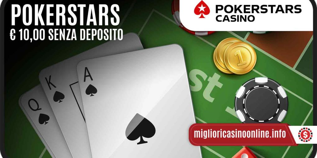 PokerStars Casino ed un Bonus Senza Deposito per iniziare giocando