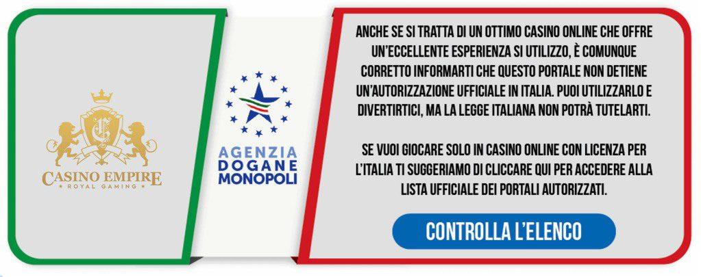 banner adm italia casino empire