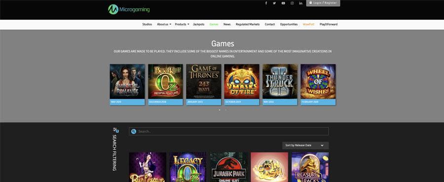 screenshot microgaming games